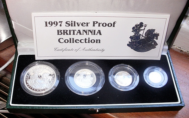 1997 Silver Proof Britannia Set Boxed<b> SOLD