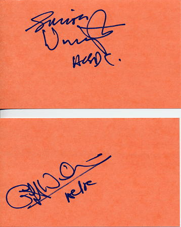 AC/DC - signed cards by two