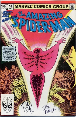 Amazing Spider-Man Annual #16 Signed John Romita Jnr+Snr <b>SOLD