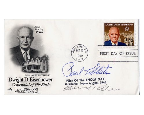 FDC - signed by Paul Tibbets, Edward Teller & Arthur Miller