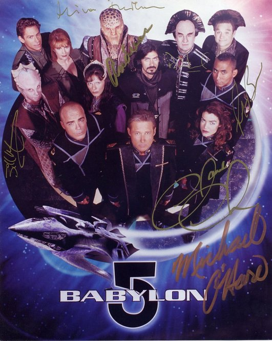 Babylon 5 - Cast signed by 7