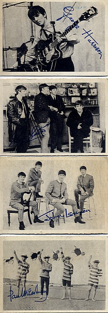Beatles - four ABC Gum cards <b>SOLD</b>