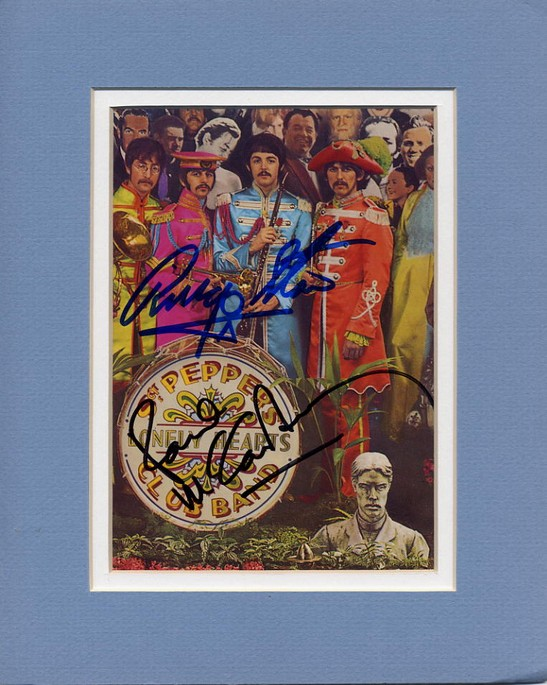 Beatles Sgt Peppers Paul McCartney & Ringo Starr signatures