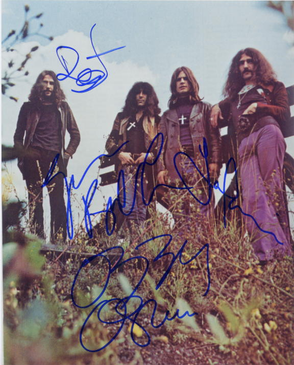 Black Sabbath - signed group photo