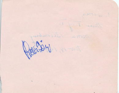 Borge, Victor -signed album page