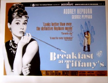 Breakfast at Tiffanys - Quad Poster - 2001rr - Audrey Hepburn