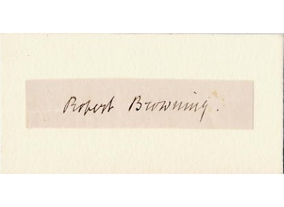 Browning, Robert - Poet - clipped signature