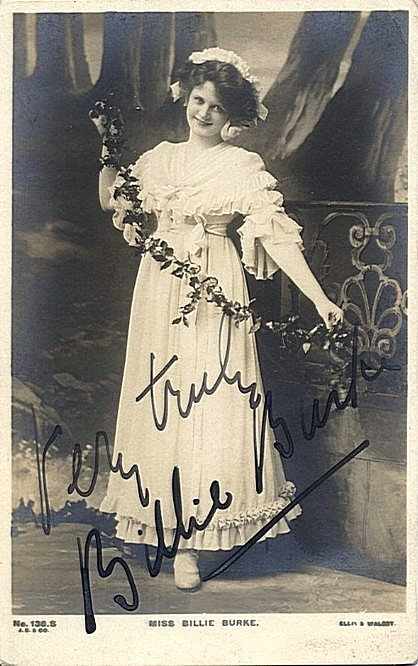 Burke, Billie - Autographed vintage photo postcard <b>SOLD</b>