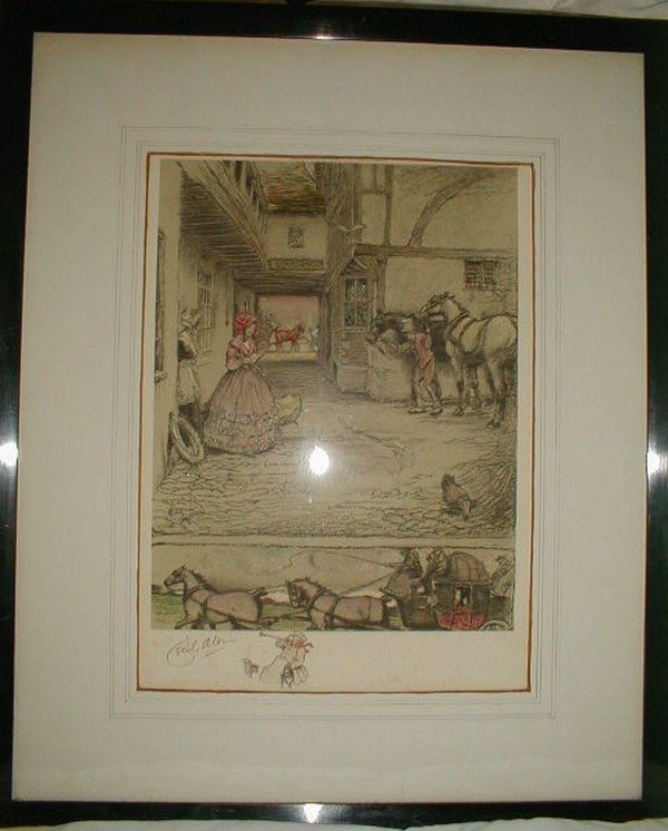 Aldin, Cecil - The Coaching Inn - signed colour lithograph