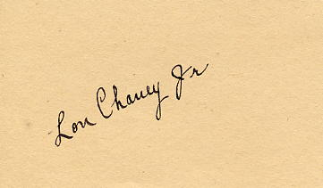 Chaney Jr, Lon (1906-1973) autograph signed album slip