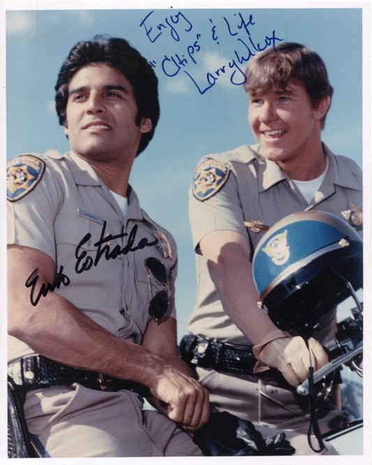 Chips - signed photo Estrada & Wilcox
