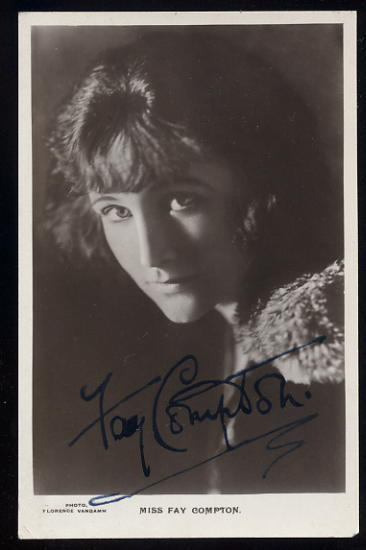 Compton, Fay - autographed postcard SOLD