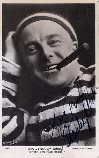 Cooke, Stanley - autographed postcard photo