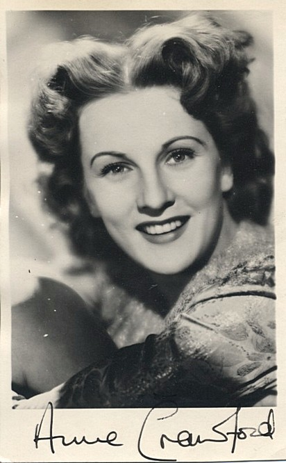 Crawford, Anne 1920-1956 autographed photo