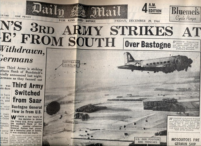 1944 Dec 29 Daily Mail - Patton Strikes