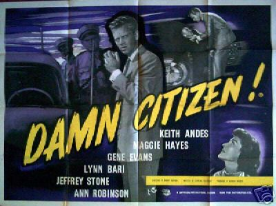 Damn Citizen - British Quad Poster
