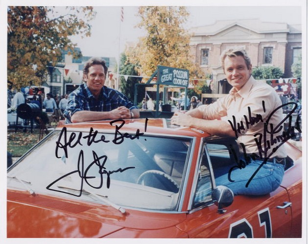 Dukes of Hazzard, The - Cast signed