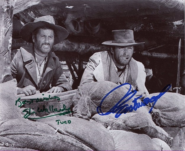The Good, Bad & the Ugly signed Eastwood & Wallach