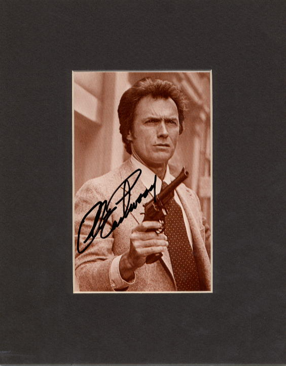 Eastwood, Clint - signed sepia postcard matted (SOLD)