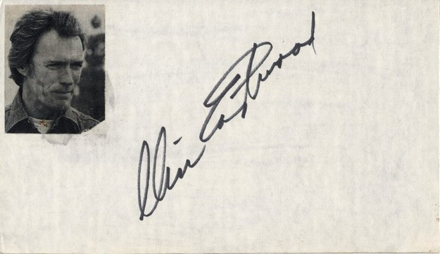 Eastwood, Clint signed paper <b> SOLD