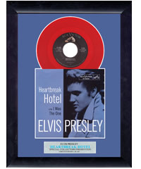 Elvis - Heartbreak Hotel - Framed Vinyl (VS01) Ltd Ed 100