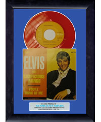 Elvis - Suspicious Minds - Framed Vinyl