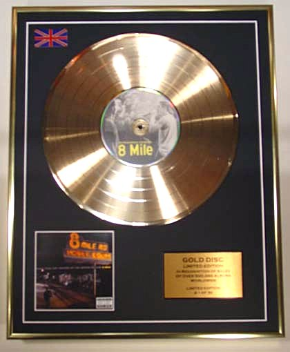 Eminem 8 Mile Gold Disc Display