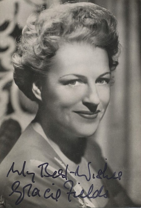 Fields, Gracie signed photo