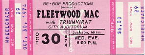 Fleetwood Mac Concert Ticket
