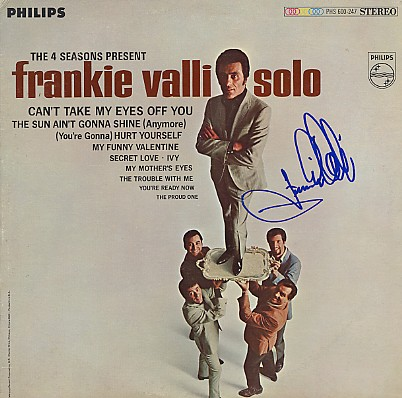 "Valli, Frankie - signed In Person ""Frankie Valli Solo"" LP"