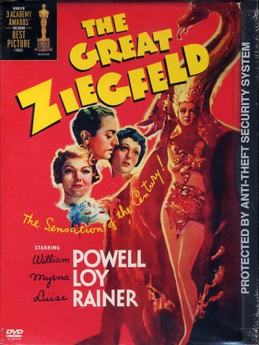 Great Ziegfield, the DVD William Powell, Myrna Loy, Luise Rainer