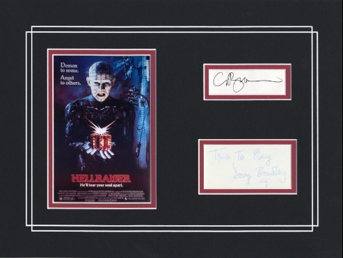 Hellraiser - matt signed Doug Bradley and author Clive Barker