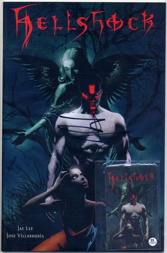 Hellshock #1 Signed + telephone Card