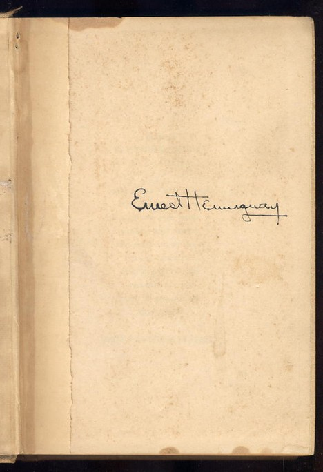 Hemingway, Ernest - Autographed For Whom the Bells Toll