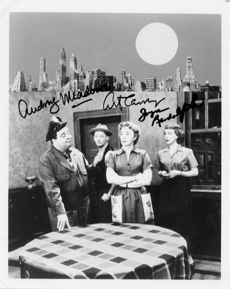 Honeymooners - Cast signed photo - Meadows, Carney, Randolph <b>