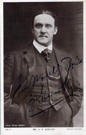 Huntley, G.P. - autographed postcard photo