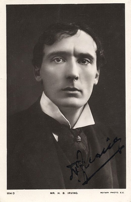 Irving, Harry B, autographed photo postcard 1