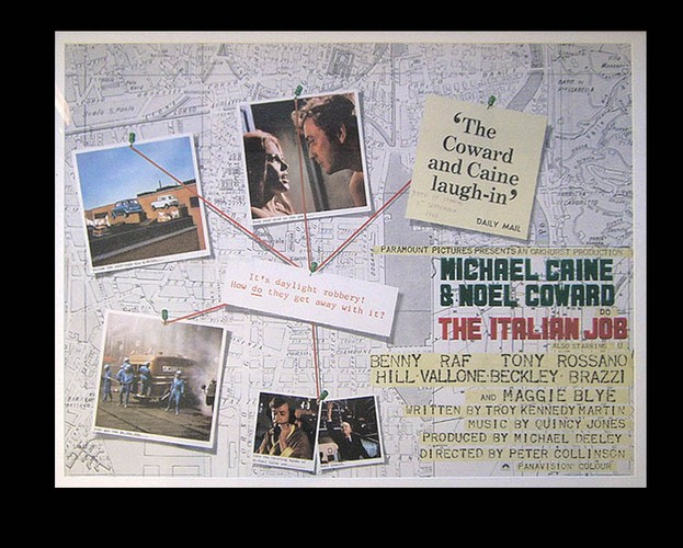 Italian Job - Quad Poster <b>SOLD