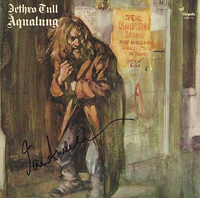 Jethro Tull - Aqualung signed In Person by Ian Anderson