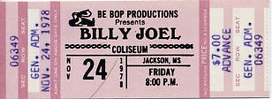 Joel, Billy Concert Ticket