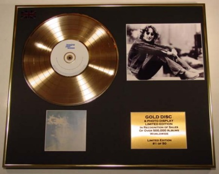 John Lennon Gold Disc & Photo Display for Imagine