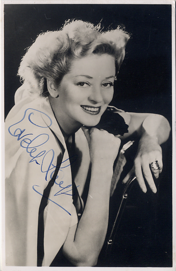 Laye, Evelyn - signed photo postcard <b>SOLD</b>