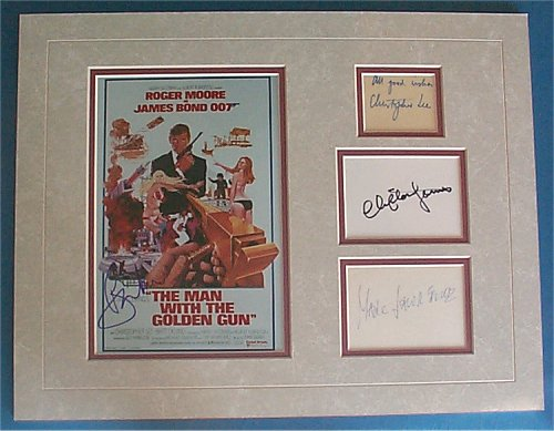 Man With the Golden Gun 1974 -Bond cast signed matt