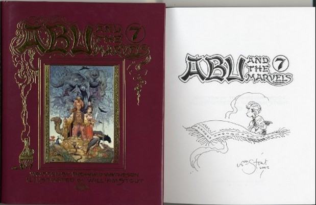 Matheson, Richard - Abu and the 7 Marvels - 9 signed illus+Doodl