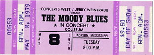 Moody Blues, The - Concert Ticket