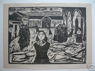 Munch, Edvard - Woodcut Lithograph Signed <b> SOLD</b>
