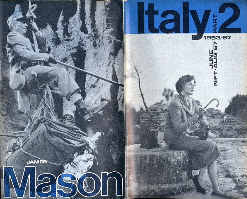 National Film Theatre Programme 1967 June-Aug Italy 2 & J Mason