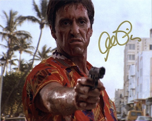 Pacino, Al - signed Scarface photo