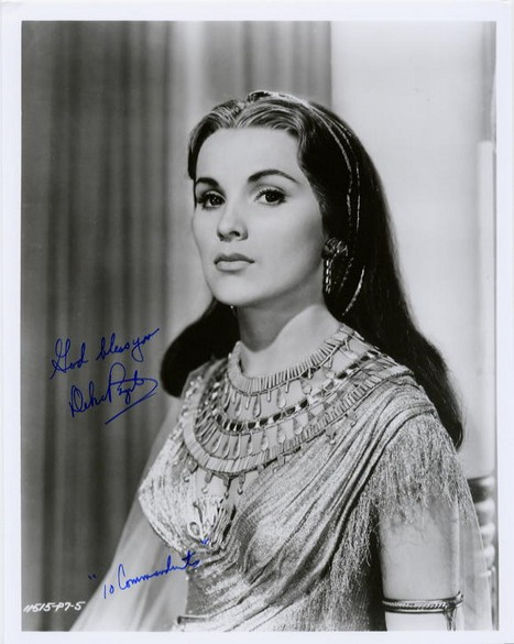 Paget, Debra, Ten Commandments, autograph photo <b>SOLD</b>