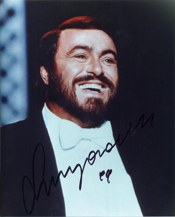 Pavarotti, Luciano - Signed and dated Photo